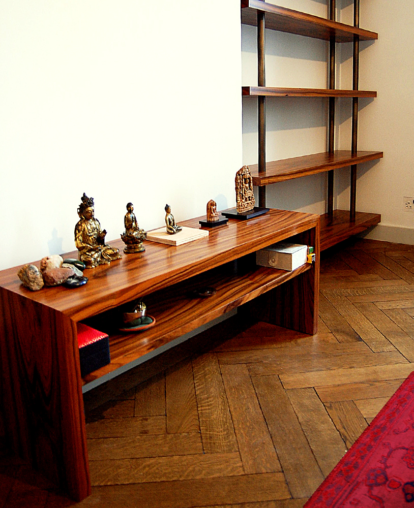 Rosewood Bookcase and Table
